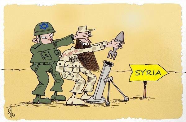 Karikatür – korsan israil ve el-kaide terörü islam beldelerine saldırıyor.