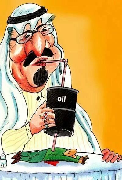 Karikatür – Dinsiz Arap Emirlikleri mazlum halkların kanıyla besleniyor