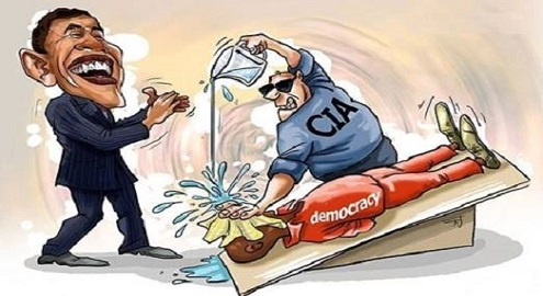 Karikatür – ABD'nin Demokrasi ve İnsan Hakları Anlayışı