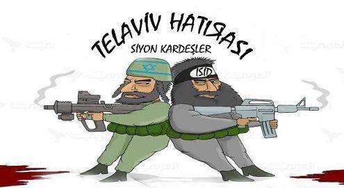 Karikatür – IŞİD ve siyonistler aynı yolun yolcularıdırlar