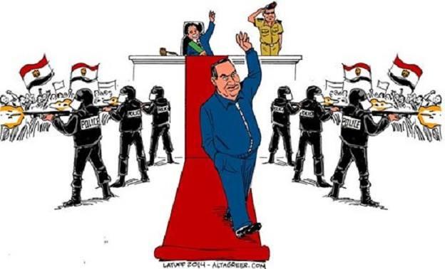 Karikatür – Mısır'ın devrik diktatörü aklandı(!)