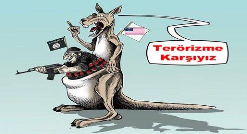 Karikatür – Terörizmin ana kaynağı ABD, terörizme karşı olduğunu iddia ediyor