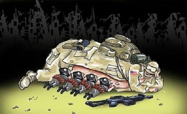 Karikatür – Terörizmin anası Büyük Şeytan Amerika