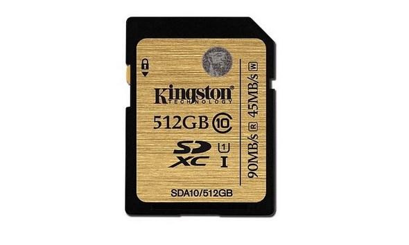 Kingston, 512 GB Class 10 SD kartını duyurdu.