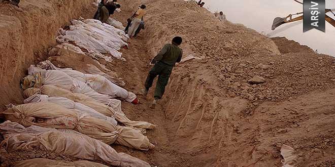 Büyük bölümü DEAŞ teröristlerine ait olan 950 ceset çıkarıldı