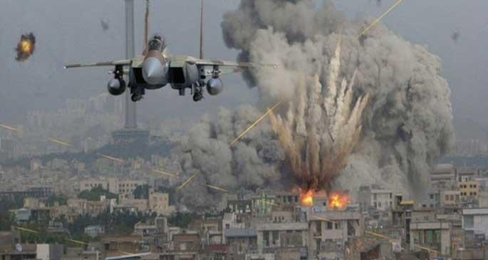 İşgalci israil savaş uçakları gençlerin üzerine bomba yağdırdı!