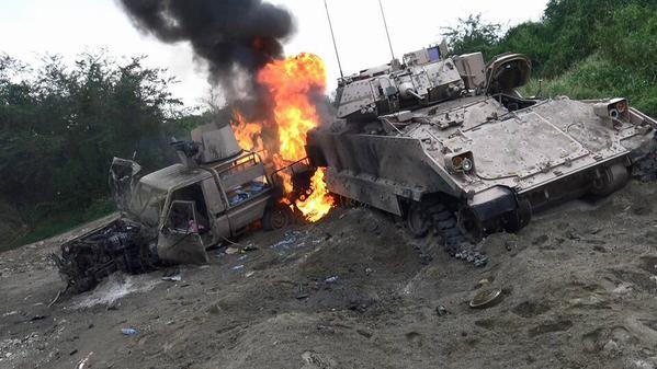 İşgalci suudi güçlerine ait 3 askeri aracı imha edildi