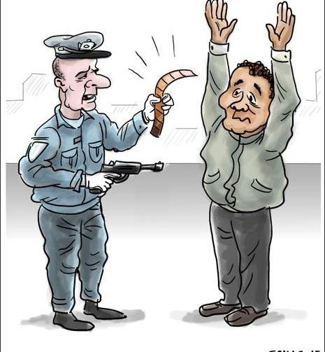 Karikatür – Amerikan Polisi'nin suçluyu suçsuzdan ayırt etme yöntemi!