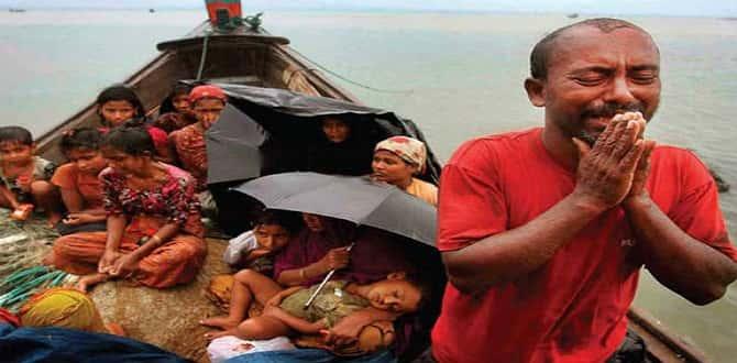 Arakanlı Müslümanların kaldığı kampları muson yağmurları vurdu