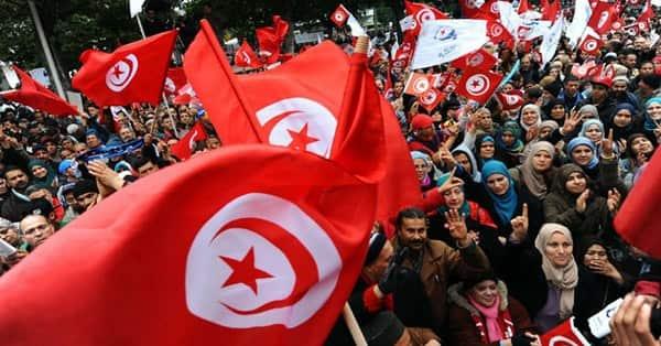 Tunus'ta öğretmenler greve gitti