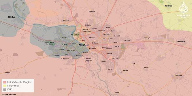 Peşmerge Musul'a giden yolları kapattı
