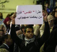 Mısır'da Kudüs'e Destek Mitinginde Dikkat Çeken Fotoğraf