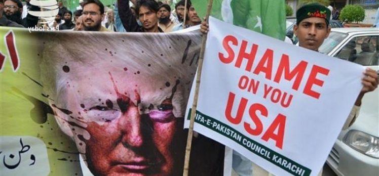 Pakistan Halkı Amerika Ve İsrail Aleyhinde Gösteri Düzenlendi