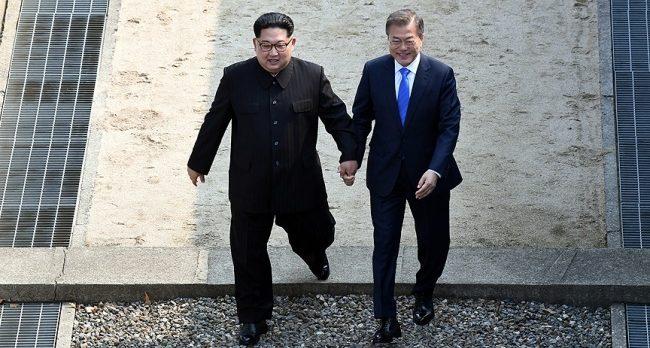 Kore Yarımadasında tarihi zirve! Güney Kore lideri Moon, Kuzey Kore'de