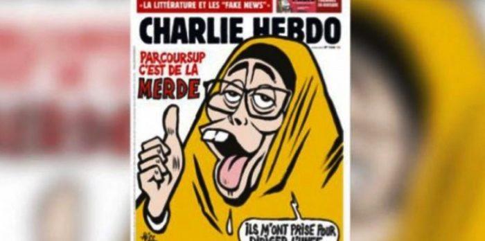 Yine Charlie Hebdo yine İslam düşmanlığı! bu kez de başörtüyü hedef aldı!