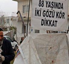 İki gözü görmeyen 88 yaşındaki Hasan dede çöp toplayarak ailesine bakıyor